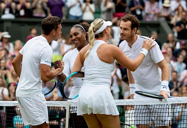 Andreas Mies, Serena Williams, Alexa Guarachi, Andy Murray