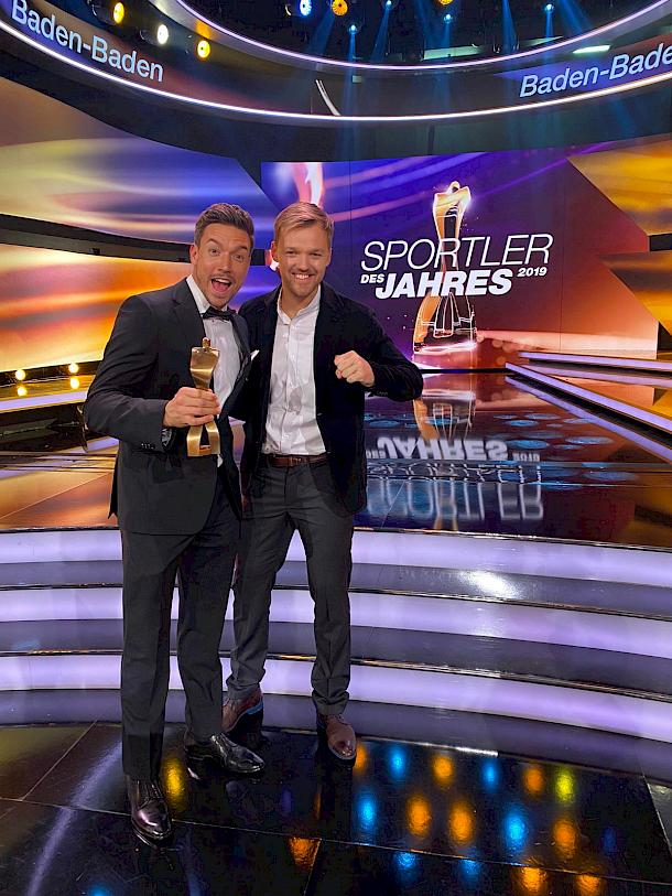"Andreas Mies and Kevin Krawietz at ""Sportler des Jahres 2019"""